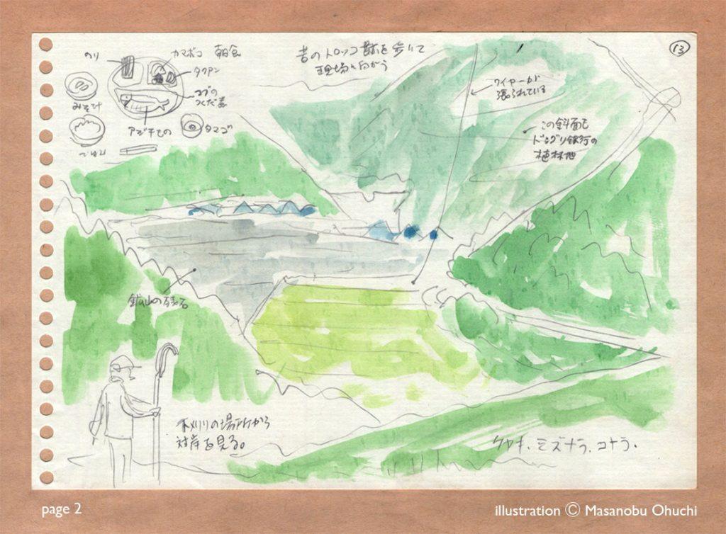 13)山で下刈り